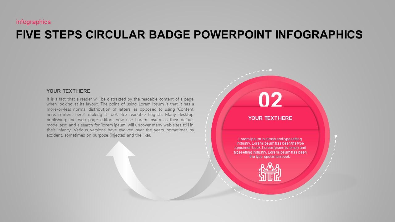Circular Badge PowerPoint Infographics