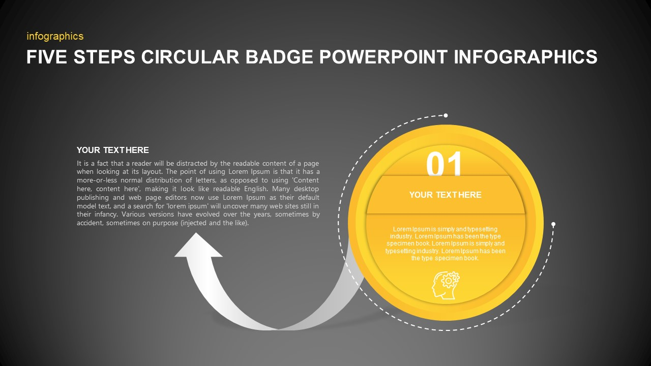 Circular Badge PowerPoint Infographics