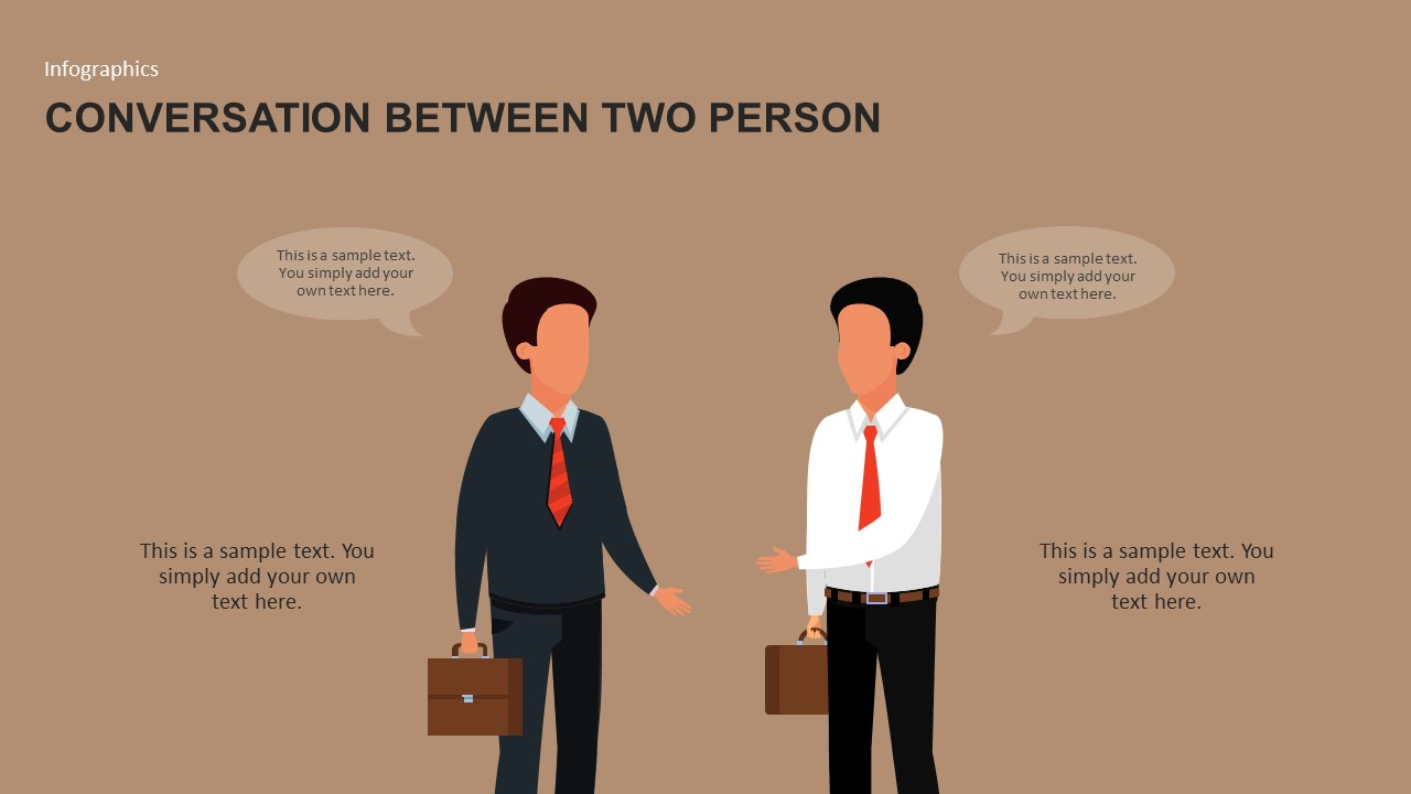 Conversation Between Two Businessmen Template for PowerPoint