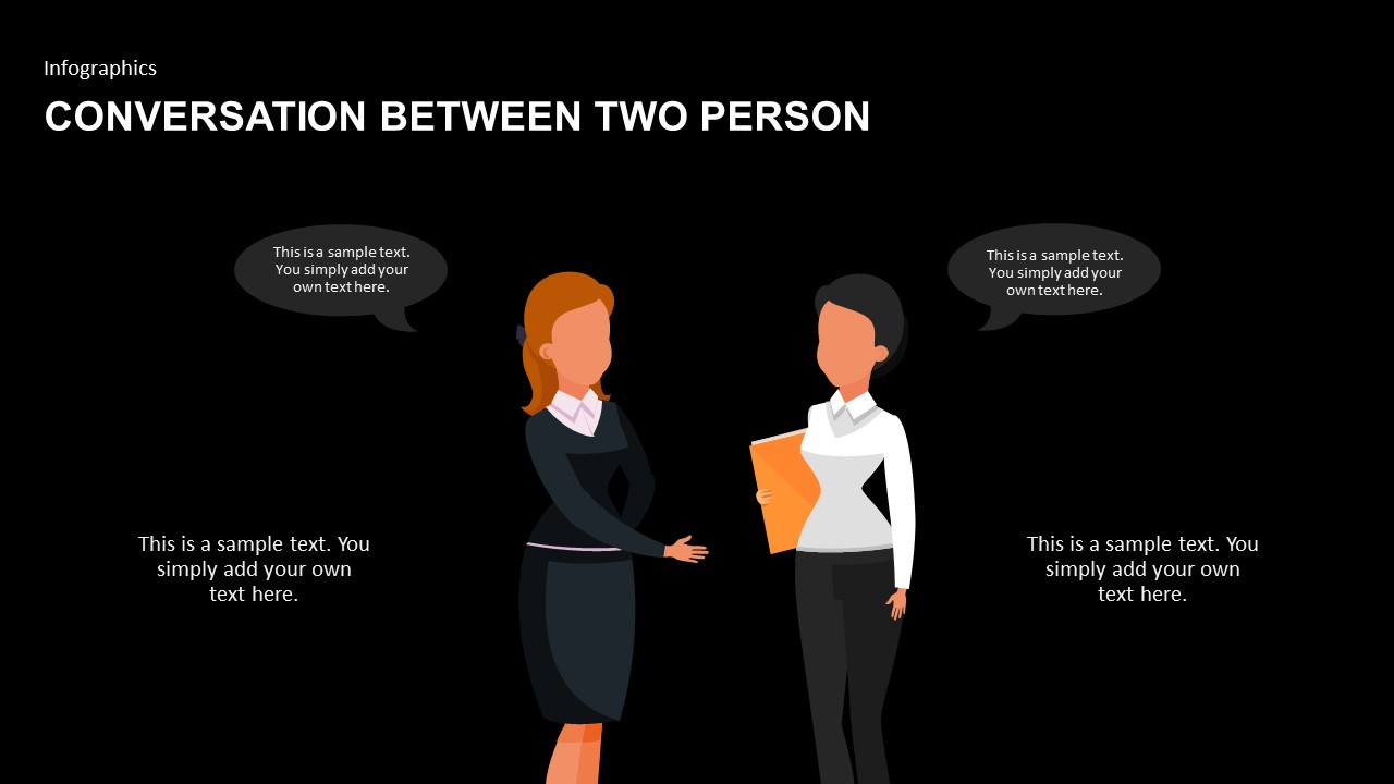 Conversation between two person PowerPoint template