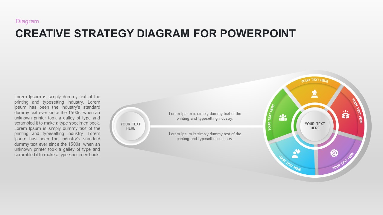 Creative Strategy Diagram for PowerPoint