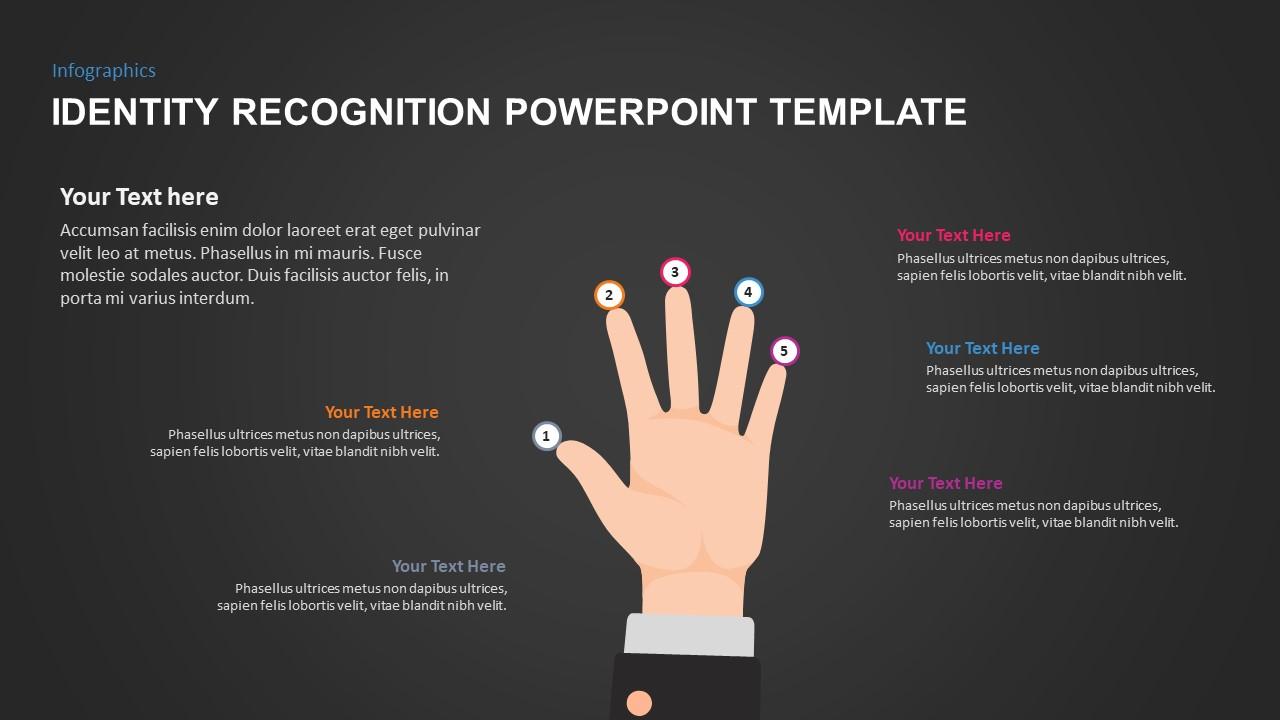Five Fingers Slide Design for Identity Recognition