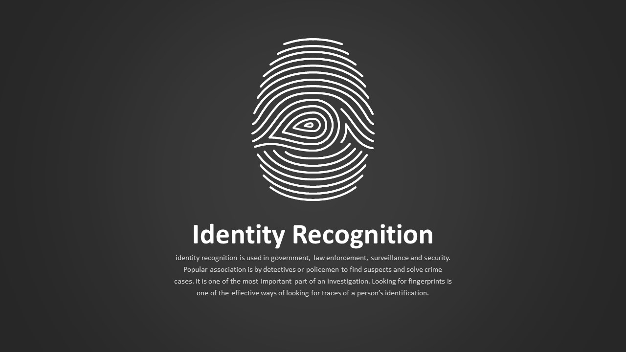 Identity Recognition Slide