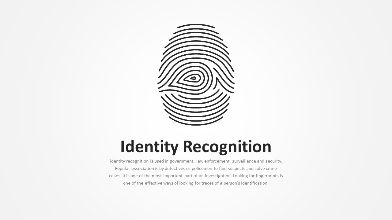 Identity Recognition Template