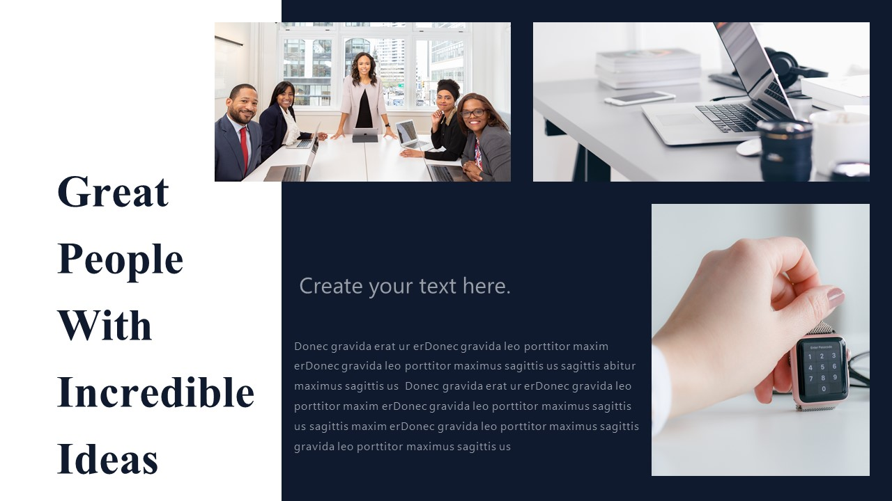 People With Business Ideas Powerpoint Template