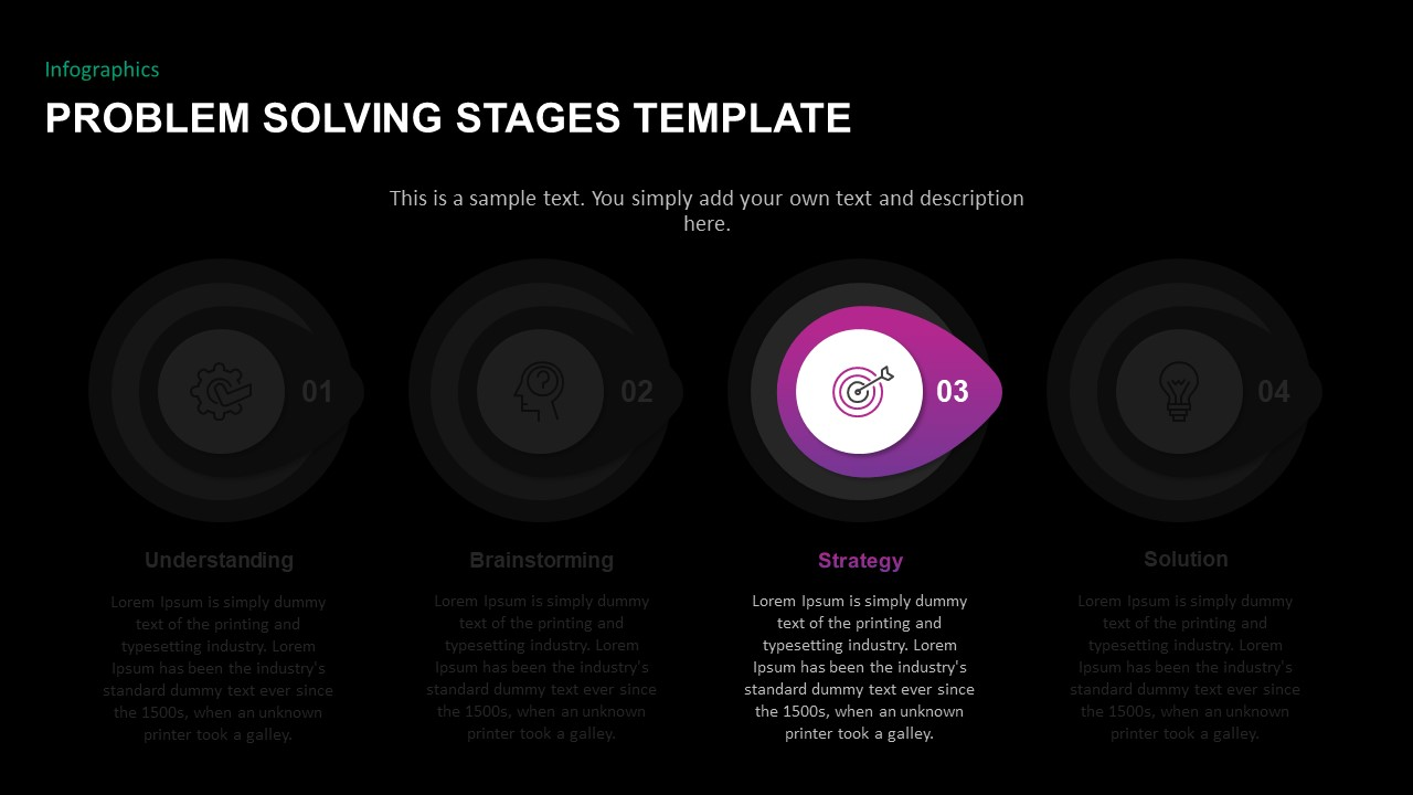 Problem solving PowerPoint template Timeline