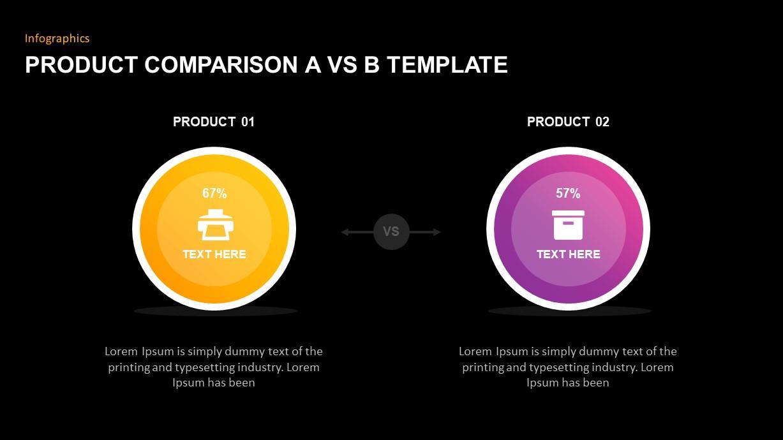 Product Comparison PowerPoint Diagram