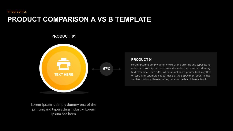 Product Comparison PowerPoint Presentation Template