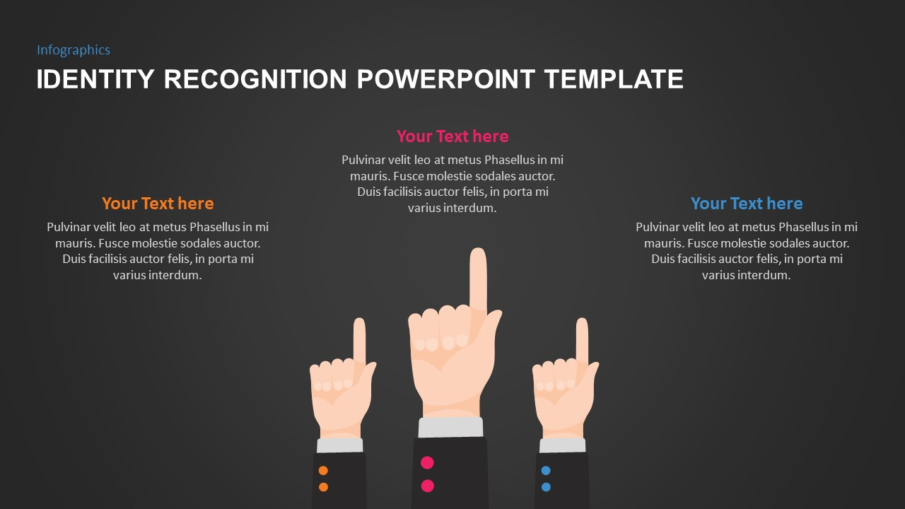 Togetherness PowerPoint Slide Design with Finger Hands