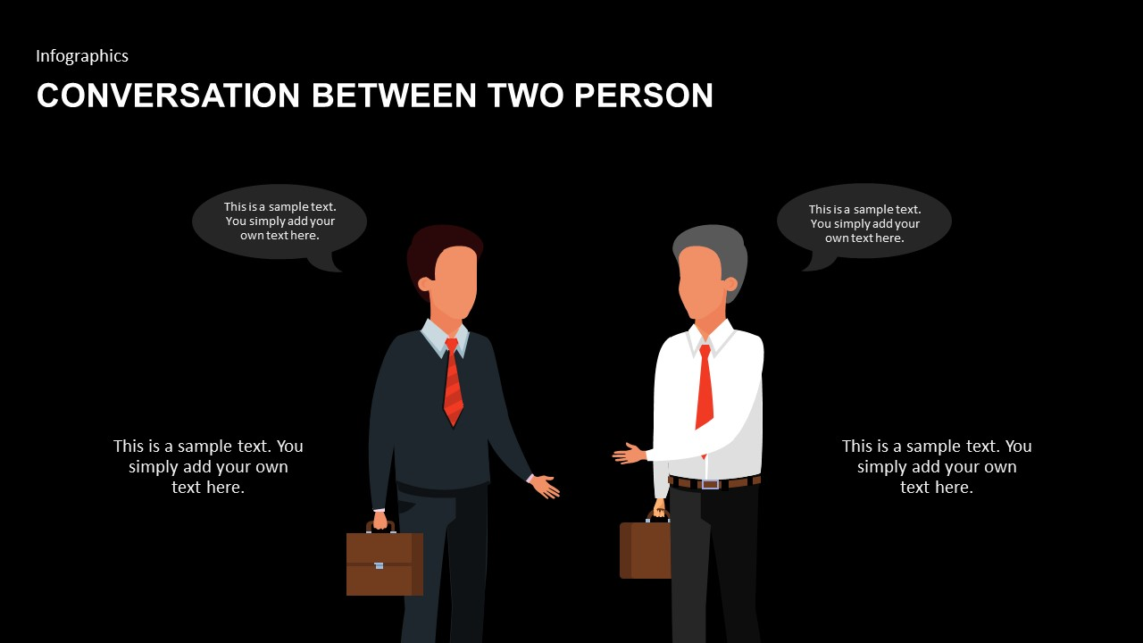 animated PowerPoint of conversation between two person template