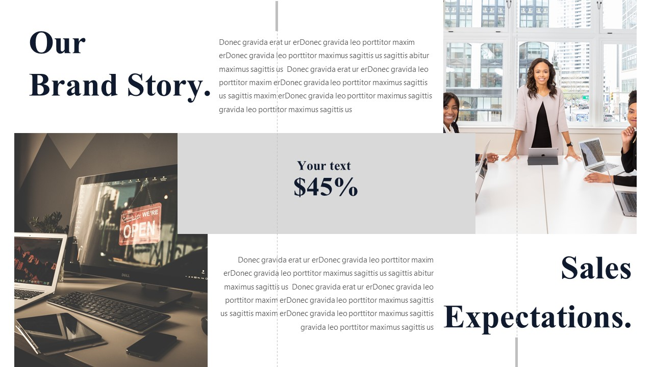 brand story ppt template