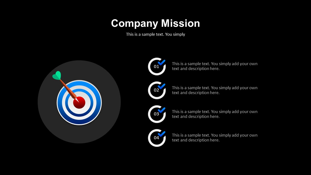 company mission powerpoint template