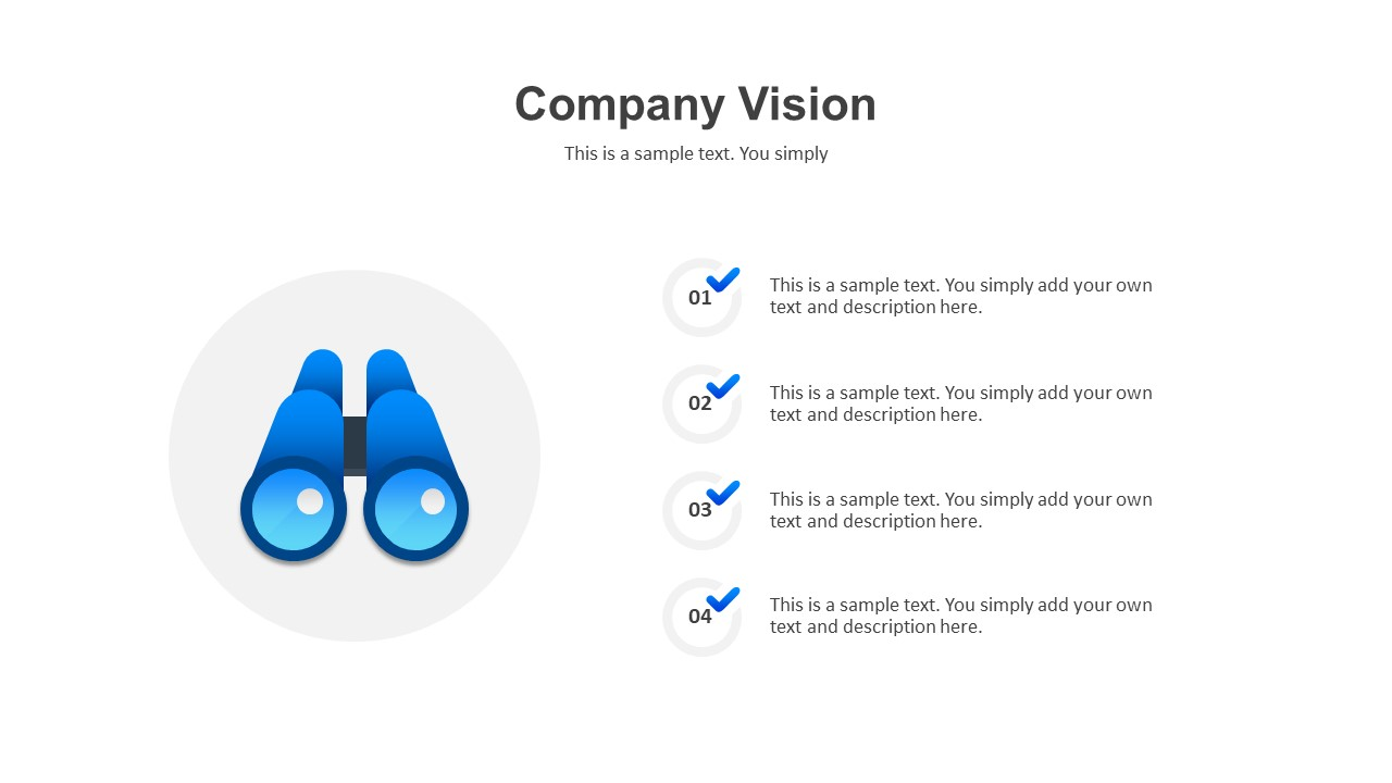 company vision template