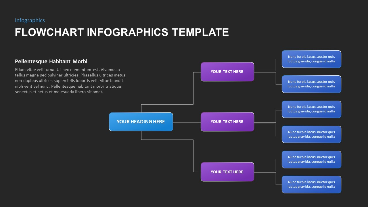 flowchart infographic presentation template