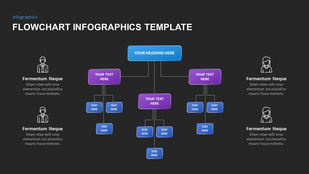 flowchart infographic template powerpoint
