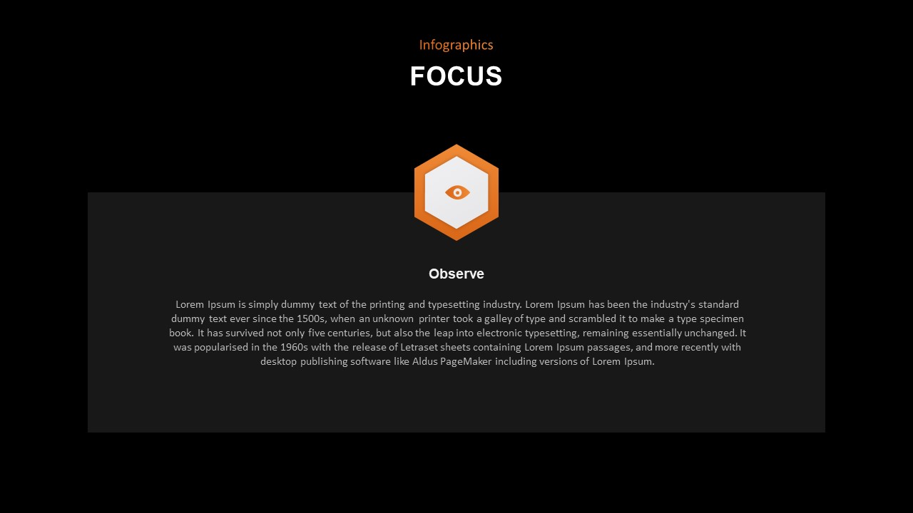 focus PowerPoint template