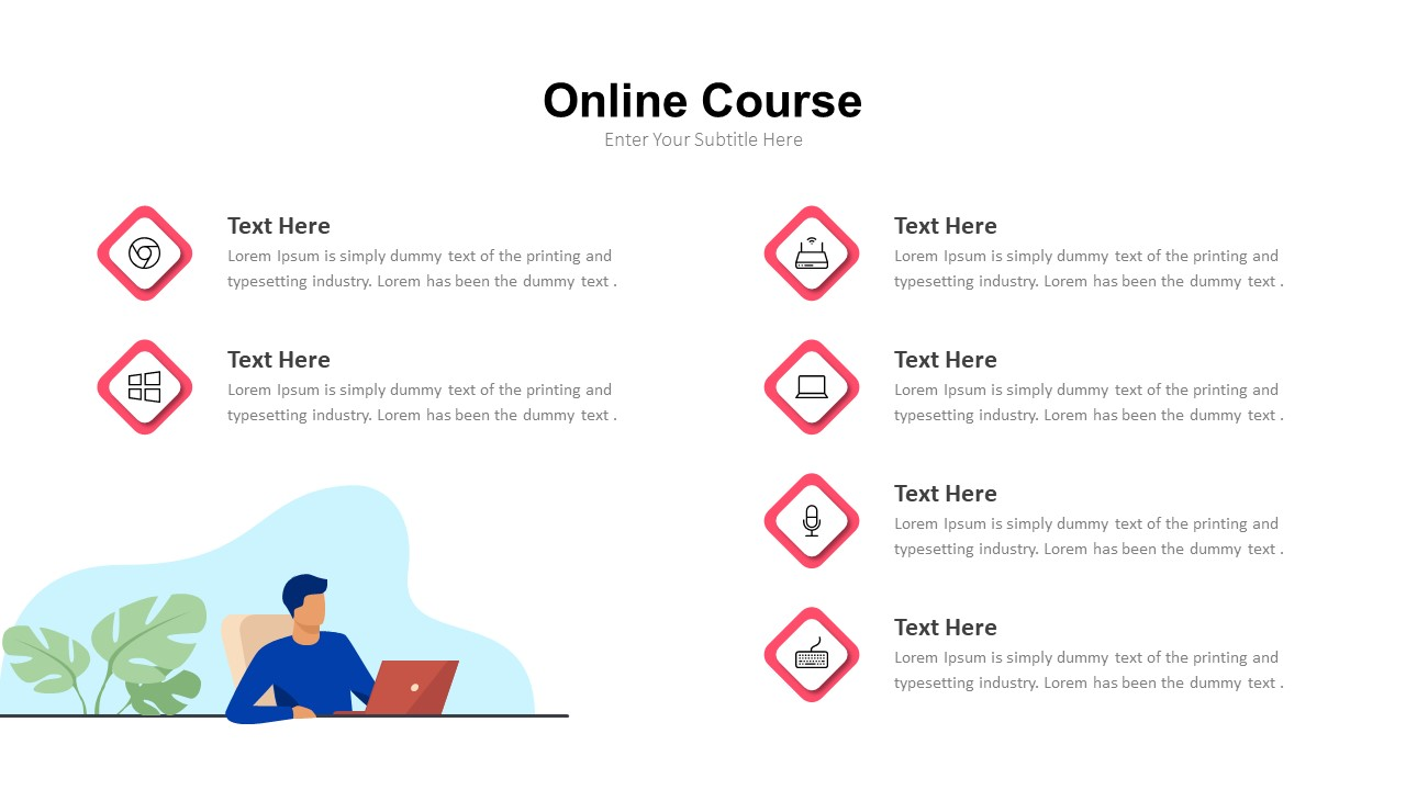 online classes powerpoint template