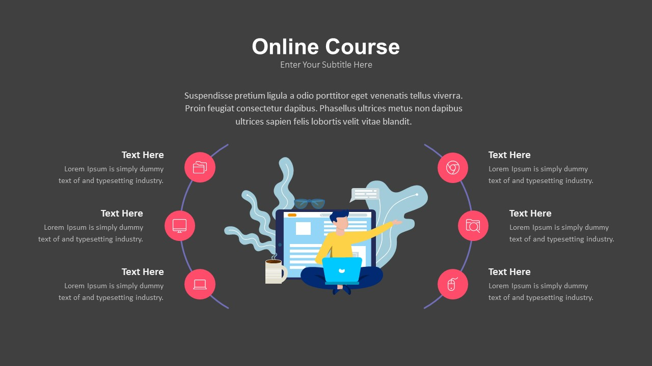 online classes ppt template