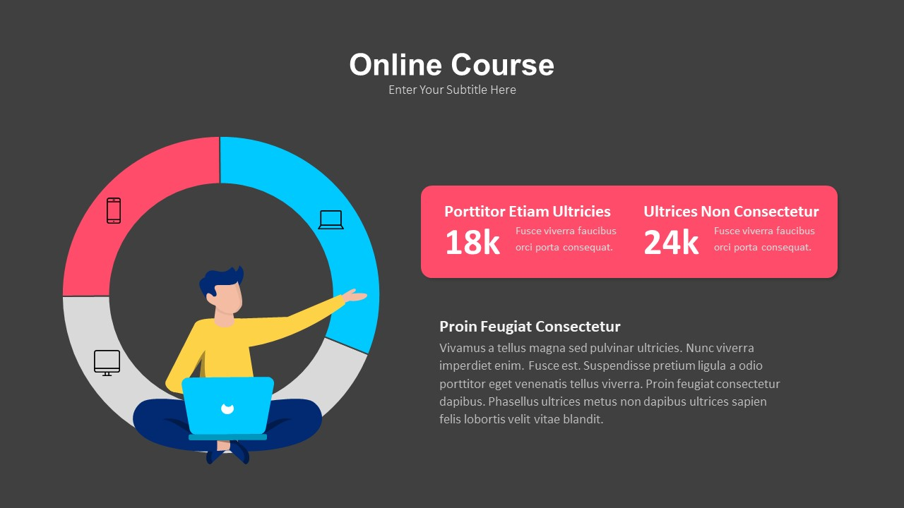 online course powerpoint presentation template