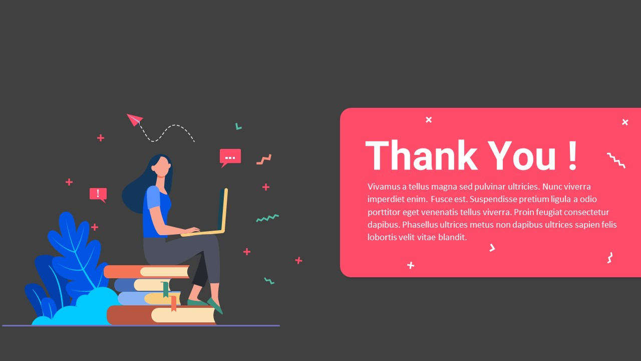 online education powerpoint thank you slide
