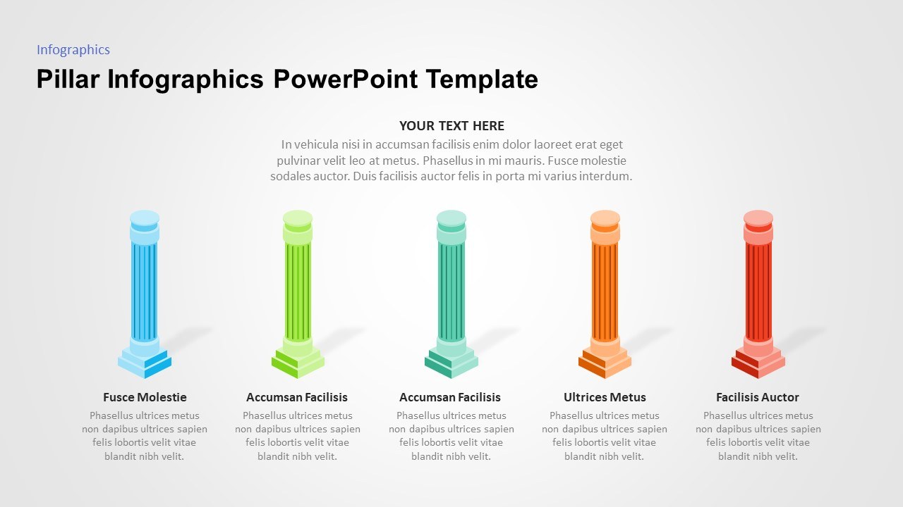 pillar powerpoint graphic