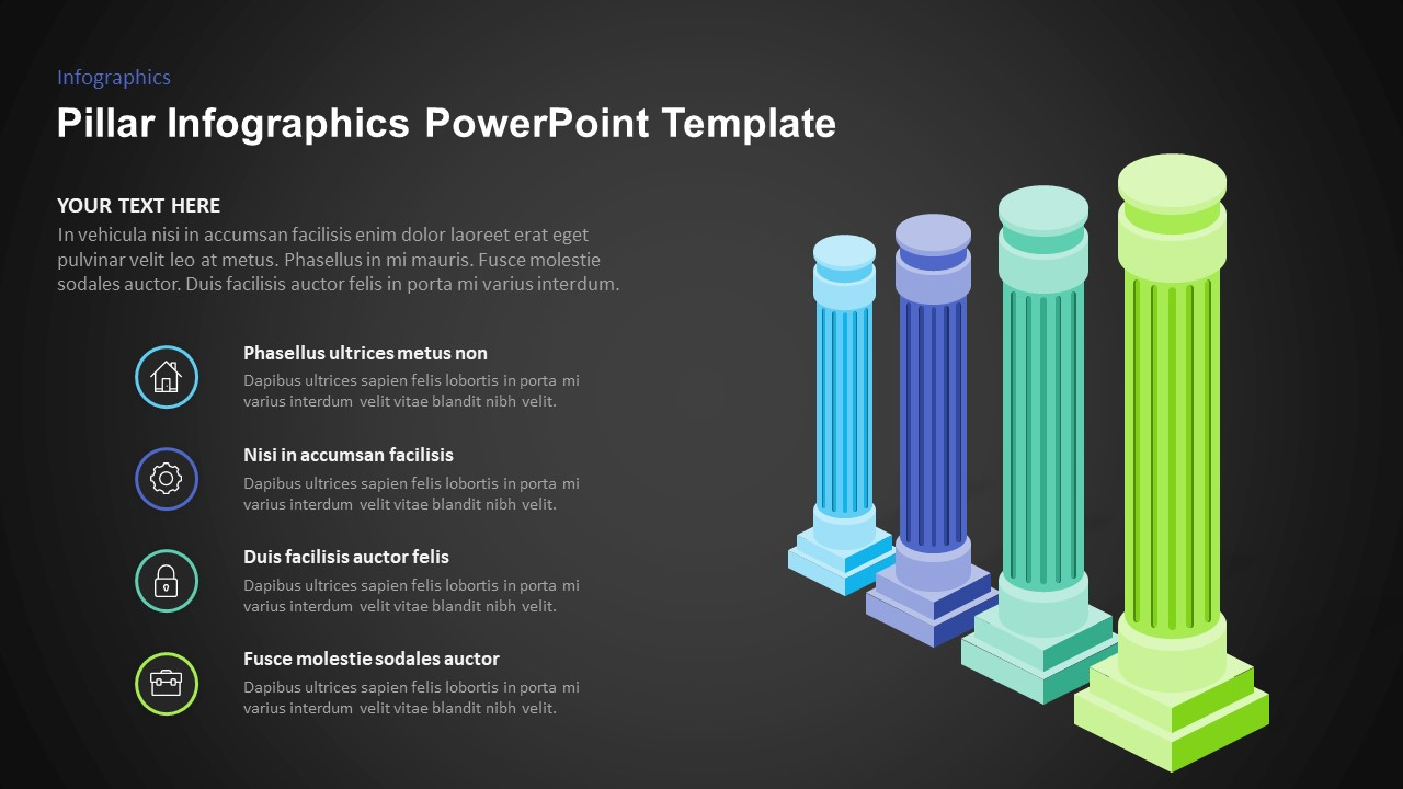 pillars graphic for powerpoint