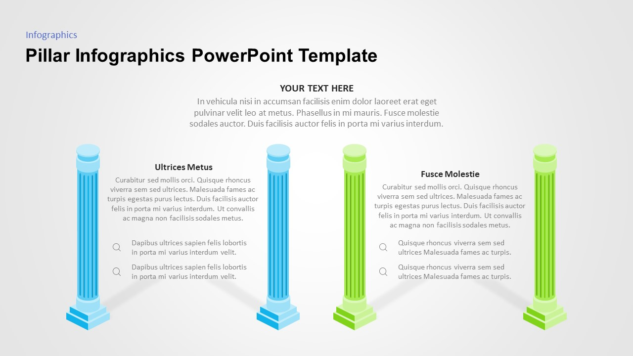 powerpoint pillar diagram template