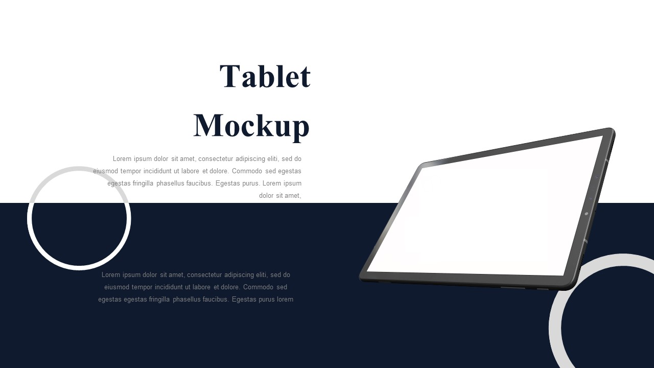 sales meeting ppt tablet mockup
