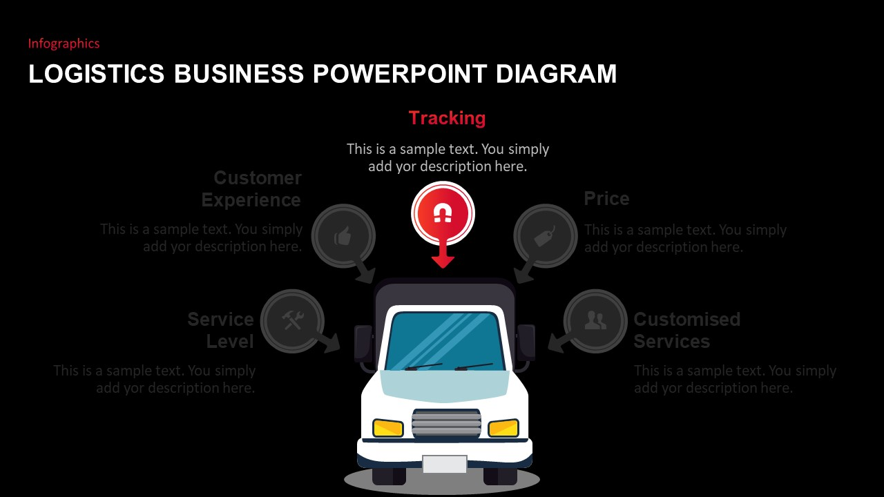 truck design for PowerPoint presentation