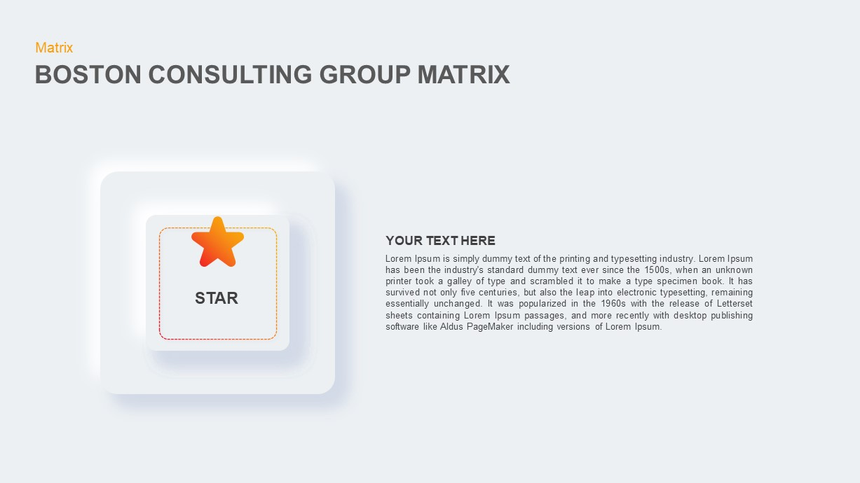 Boston Consulting Group Matrix Powerpoint