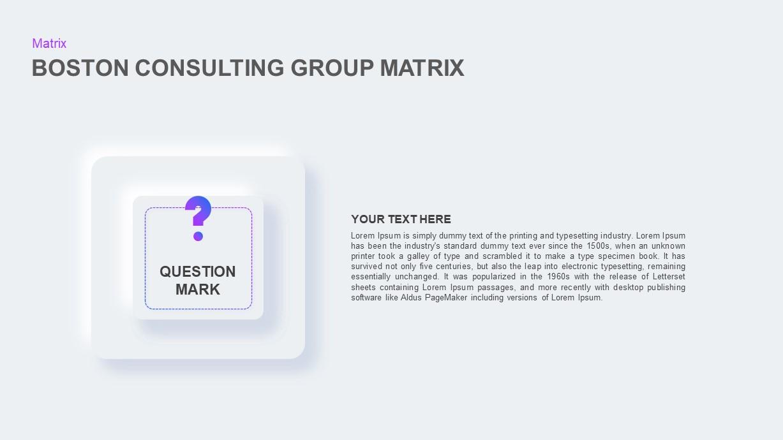 Boston Consulting Group Matrix keynote