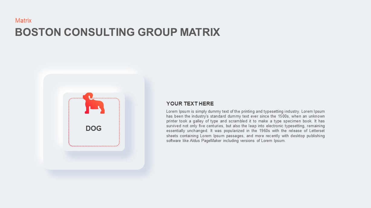 Boston Consulting Group Matrix template