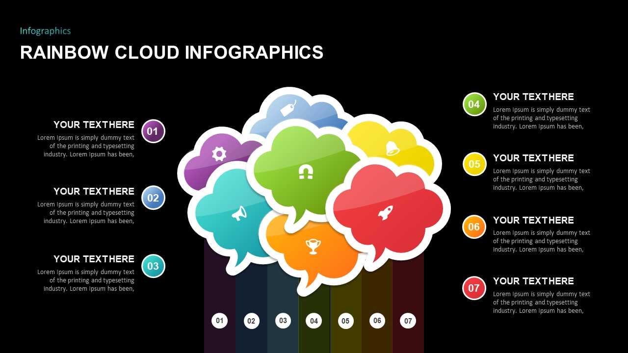 Rainbow Cloud Infographics