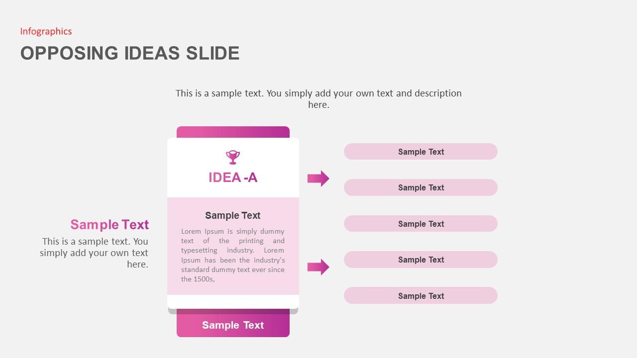 Opposing Ideas Slides Detailed