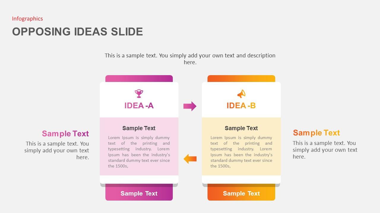 Opposing Ideas Slides Template