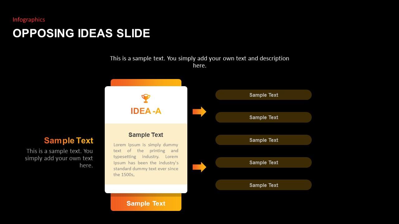 Opposing Ideas Slides dark
