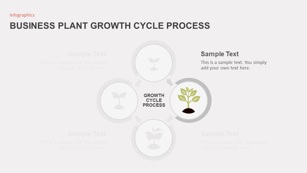 Business Growth Plant Infographics