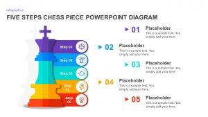 Five Steps Chess Piece PowerPoint Infographic