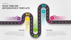 Road Timeline Infographic PowerPoint Template